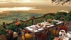 15 melhores restaurantes com vistas deslumbrantes - Crater Lodge na Área de Conservação de Ngorongoro na Tanzânia