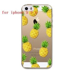 Fruit Pineapple Lemon Banana Fashion Soft Silicon Transparent Thin Case Cover For Apple iPhone 4 4S 5 5S 5C 6 6S 6Plus 6s Plus