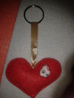 Porta-chaves coração