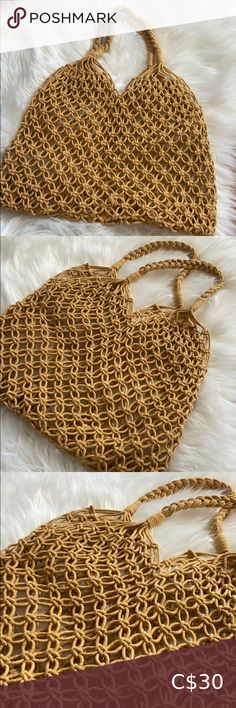 Summer Woven Beach Bag Brand new summer beach bag (Only 1 left) Bags Hobos Gucci Hobo Bag, Woven Beach Bags, Suede Handbags, Gucci Bamboo, Juicy Couture Bags, Summer Bags, Black Purses, Leather Purses