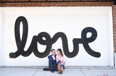 Love Mural Engagement, Bucktown Chicago Neighborhood // Chicago Engagement Photographer // Lisa Kay Creative Photography