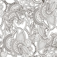 An image from Paisley Coloring Book Volume 1