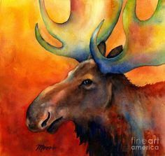 Loose Moose Painting  - Loose Moose Fine Art Print