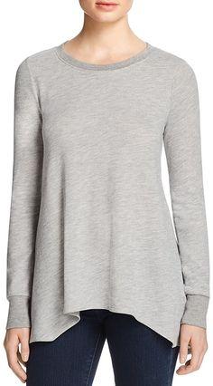 Soft Joie Lucai Draped Handkerchief Hem Sweatshirt