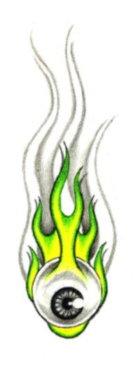 eyeball with flames tattoo designs - Google Search
