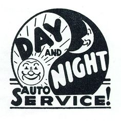 Day and Night vintage logo by Depression Press, via Flickr