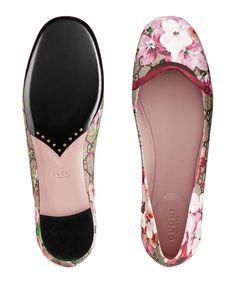 Gucci floral ballet flats