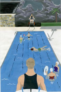 """BA illustration fiction project John cheevers """"the swimmer"""" Cinderella, Disney Characters, Fictional Characters, Disney Princess, Illustration, Projects, Art, Log Projects, Art Background"""