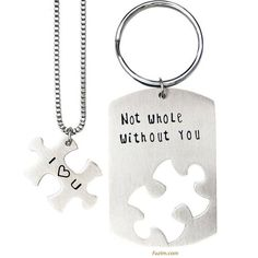 """Not Whole Without You"" #Necklace #Gift #Christmas Valentine's Day Present ""I Love You"" Perfect Gift For Her! #Jewelry"