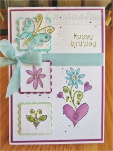 Handmade Female Birthday Card ... Stampin' Up! - Merci, Made for You ... EnchantINK