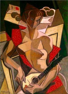 Woman with a mandolin  - Jean Metzinger