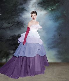 Audrey hepburn Very lovely would make an interesting prom dress. Change the fabrics and colors to fit taste
