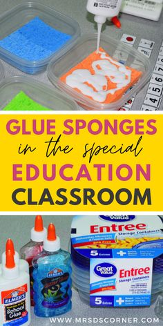 How to Make Glue Sponges | How to Use Glue Sponges in Special Ed. Video tutorial for how to make glue sponges. How to use glue sponges in a special ed classroom.