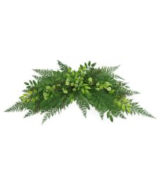 Floral Inspirations 32 inch Fern Honey Locust with Berry Crescent Swag, , hi-res