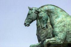 Cavalli di Bronzo | GiacoGala Photo Lion Sculpture, Horses, Statue, Art, Art Background, Kunst, Performing Arts, Horse, Sculptures
