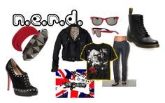 """nerd"" by lykia ❤ liked on Polyvore featuring Max & Chloe, Ray-Ban, See by Chloé, Christian Louboutin and H by Hudson"