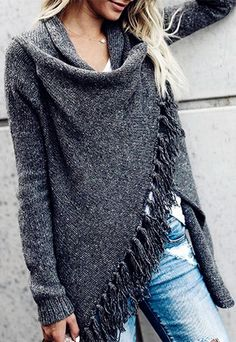 We love the new lightweight Cardigan! Layer this over your favorite tanks, tees and Beso Tops! The one sided fringe and button closures are perfect for wrapping up on chilly nights.