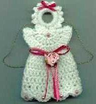 DIY crochet angel ornament