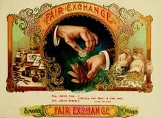 Cigar box label - 'Fair exchange', old, vintage, hand pose design Cigar Box Art, Vintage Cigar Box, Cigar Boxes, Vintage Type, Wine Boxes, Vintage Labels, Vintage Ads, Vintage Posters, Graphics Vintage