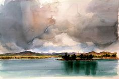 Kai Fine Art is an art website, shows painting and illustration works all over the world. Beautiful Landscape Paintings, Figurative Art, Kai, Clouds, Fine Art, Abstract, World, Illustration, Artwork