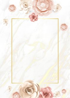 Paper craft flower element card template vector premium image by Flower Background Wallpaper, Framed Wallpaper, Flower Backgrounds, Wallpaper Backgrounds, Iphone Wallpaper, Frame Background, Backgrounds Marble, Wedding Invitation Background, Wedding Invitations