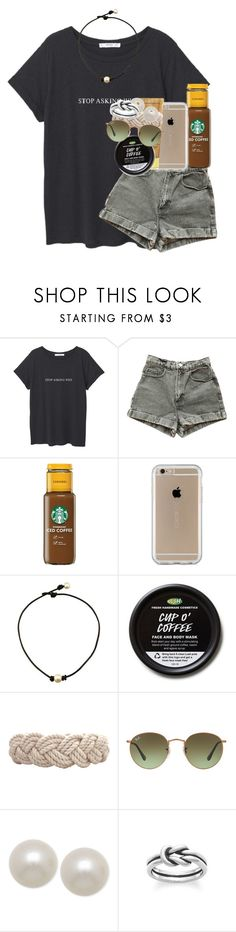 """stop asking why"" by emilyandella ❤ liked on Polyvore featuring MANGO, American Apparel, Speck, Sun Bum, Swell, Ray-Ban, Honora and Avery"