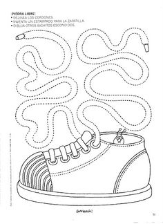 shoe ; possible pattern for a quiet book , or just to color
