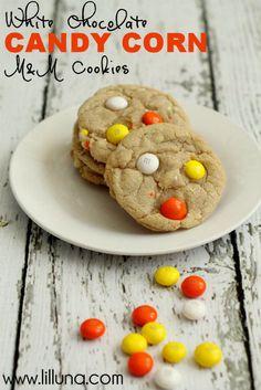 White Chocolate Candy Corn M&M Cookies - YUM!!