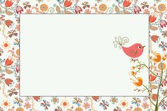Imprimibles de jardín vintage con pajaritos. Boarder Designs, Cute Frames, Bird Party, Borders And Frames, Frame Crafts, Writing Paper, Envelopes, Paper Decorations, Custom Art