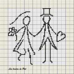 Suite à mon article ici, je vous offre la grille des mariés réalisée à partir d'une image trouvée sur la toile. Elle fait :70 points de largeur et 69 points de hauteur N'hésitez pas à m'envoyer une photo de votre réalisation :)