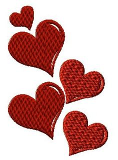 Hearts embroidery design from embroiderydesigns.com