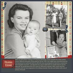 A Patient Genealogist: Heritage Scrapbooking: Military Pages About the Home Front - excellent idea as an addition to military heritage pages...