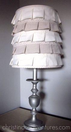 Ruffled Lamp Shade - Tutorial