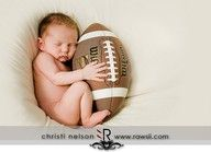 little football baby; might have to take this picture if the baby is born on its due date!