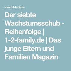 Der siebte Wachstumsschub - Reihenfolge | 1-2-family.de | Das junge Eltern und Familien Magazin