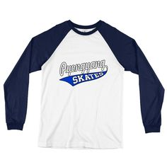 Pyongyang Skates Long Sleeve Baseball T-Shirt S-2XL 100% Cotton by Channel Zero Tshirts