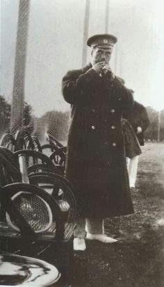 Tsar Nicholas ll of Russia having a smoke after game of tennis in 1914.A♥W
