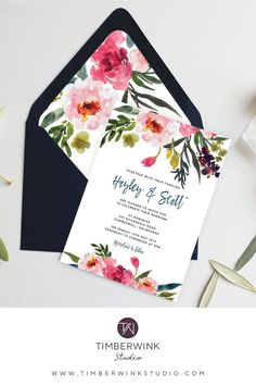 A gorgeous invite with a beautiful combination of pink tones & dark foliage. This wedding invitation features beautiful watercolour blush floral peonies and greenery and is perfect for any nature inspired, garden, summer or spring wedding. Botanical Wedding, Floral Wedding, Butterfly Wedding, Printable Wedding Invitations, Wedding Stationery, Destination Wedding, Wedding Planning, Wedding Ideas, Wedding Decorations