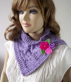 KNITTING PATTERN COWL  Violet Cowl  crochet by LiliaCraftParty