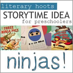 Literary Hoots: Ninja Storytime. Index of other story time themes http://www.literaryhoots.com/p/storytime-theme-index.html?m=1