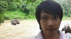 Look backside me ; Chiang Mai Elephant, Elephant Camp