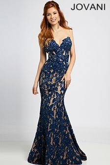 769214fbe2 Navy mermaid lace Gown 90699 Beautiful Prom Dresses