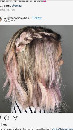 Hair & Beauty that I love Pink Blonde Hair, Hair Color Pink, Hidden Hair Color, Peekaboo Hair, Hair Addiction, Fantasy Hair, Dream Hair, Hair Highlights, Hair Dos