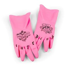 A pair of tatted dish gloves for the ~toughest~ messes. | 23 Products For People Who Hate To Clean