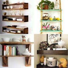 16 easy tutorials on building beautiful floating shelves and wall shelves for your home! Check out all the gorgeous brackets, supports, finishes and design inspirations! - A Piece Of Rainbow Cubby Shelves, Floating Wall Shelves, Diy Wall Shelves, Shelving Ideas, Room Paint Colors, Paint Colors For Living Room, Pot Mason Diy, Jar Centerpieces, Custom Furniture