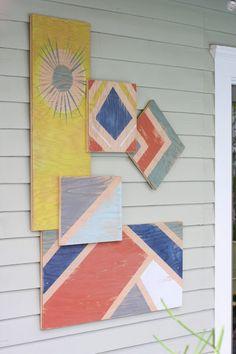 Scrap Plywood Outdoor Art