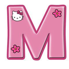 Hello Kitty Art, Hello Kitty Themes, Hello Kitty Birthday, Hello Kitty Pictures, Kitty Images, Anniversaire Hello Kitty, Hello Kitty Invitations, Hello Kitty Imagenes, Alphabet Letters Design