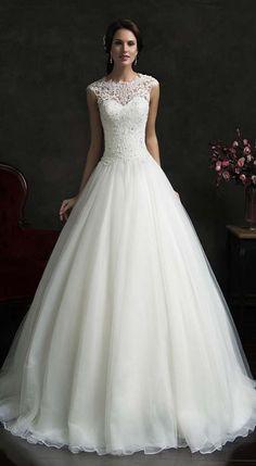 Lace A-Line Wedding Dresses 2017