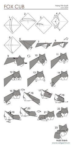 - Beauteous Origami Fox Instructions : Best Origami Fox Ideas On Origami Renard Origami Fox Puppet Instructions Origami Instructions Fox Face Origami Design, Origami Fox, Origami Ball, Instruções Origami, Origami Star Box, Origami And Kirigami, Paper Crafts Origami, Useful Origami, Origami Animals