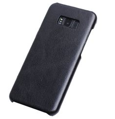 Genuine Leather Matte Samsung Galaxy S8 Plus Hard Back Cover Case